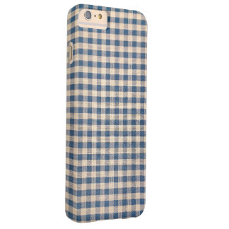 blue gingham pattern barely there iPhone 6 plus case