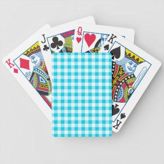 Blue Gingham Poker Deck