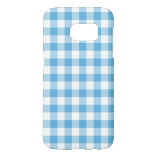 Blue Gingham Samsung Galaxy S7 Case