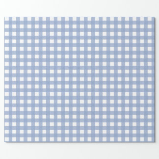 Blue Gingham Serenity Blue Pattern Wrapping Paper
