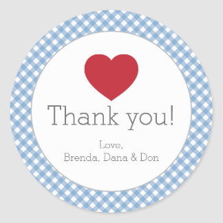 Blue Gingham Sticker