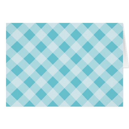 Blue Gingham Thank You Card