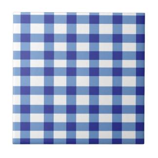 Blue Gingham Tile