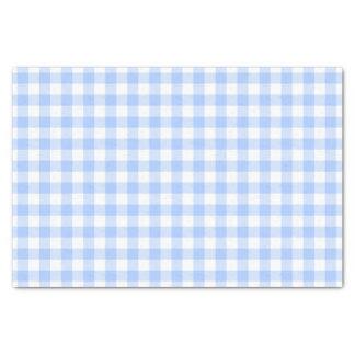 Blue Gingham Tissue Paper