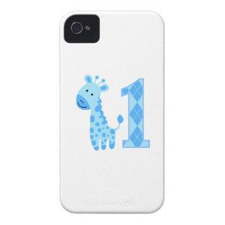 Blue Giraffe First Birthday iPhone 4 Cover