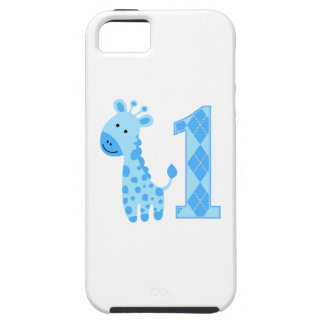 Blue Giraffe First Birthday iPhone 5 Case