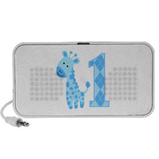Blue Giraffe First Birthday Mp3 Speaker