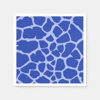 Blue giraffe jungle animal glamour modern disposable napkins