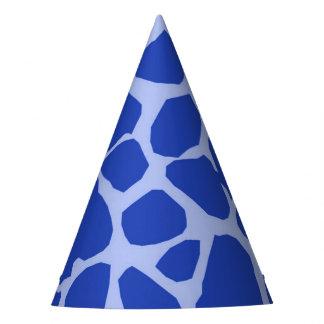 Blue giraffe jungle animal glamour modern party hat