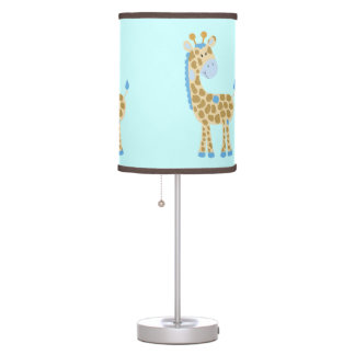 Blue Giraffe Nursery Lamp