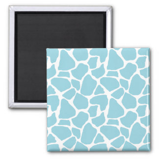 Blue Giraffe Print Magnets