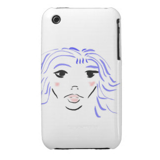 blue girl Case-Mate iPhone 3 cases