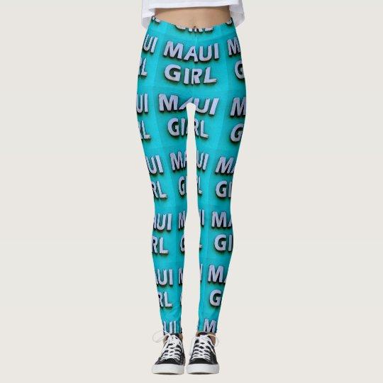 blue girl maui leggings