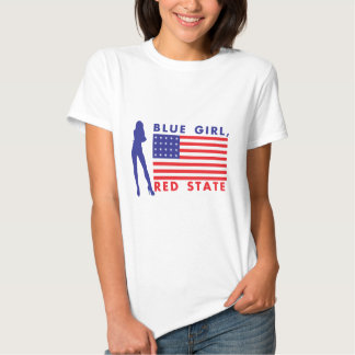 BLUE GIRL RED STATE TEE SHIRTS