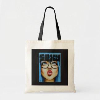 Blue Girl Tote Bag