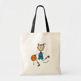 Blue Girls Basketball Tshirts and Gifts Tote Bag