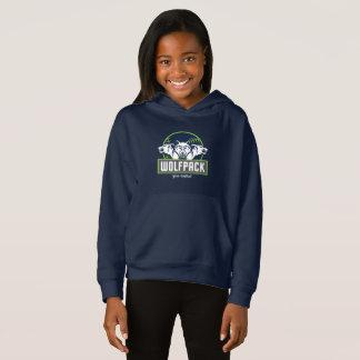 Blue Girls' Fleece Pullover WolfPack Hoodie