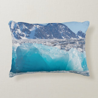 Blue glaceir ice, Norway Accent Pillow