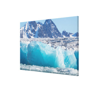 Blue glaceir ice, Norway Canvas Print