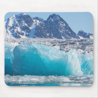Blue glaceir ice, Norway Mouse Pad
