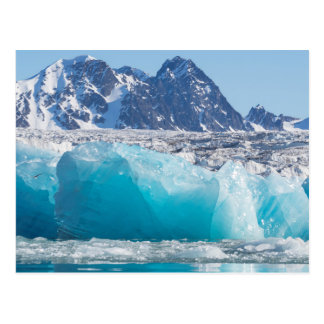Blue glaceir ice, Norway Postcard