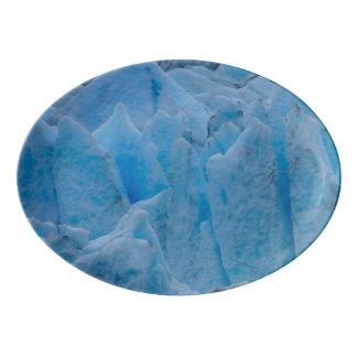 Blue Glacier Porcelain Serving Platter