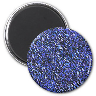 Blue Glass Abstract 2 Inch Round Magnet