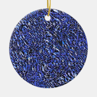 Blue Glass Abstract Ceramic Ornament