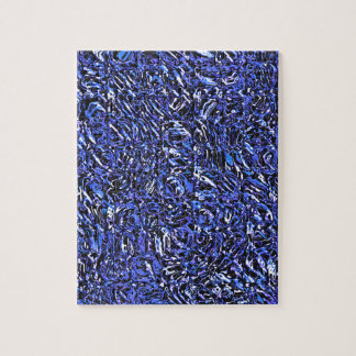 Blue Glass Abstract Jigsaw Puzzle
