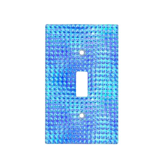 Blue Glass (faux) Light Switch Cover