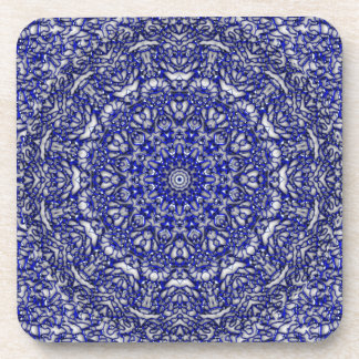Blue Glass Lace Coasters