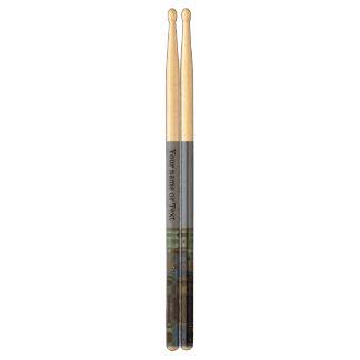 Blue glass mosaic effect w/solid blue Design Drumsticks