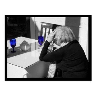 Blue Glass Postcard