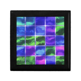 Blue glass tiles gift box