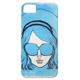 Blue Glasses Girl 1 iPhone 5 Covers