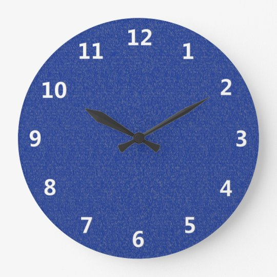Blue Glimmer with White Numbers Wall Clock