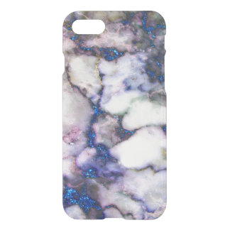 Blue Glitter Grey And Pink Marble iPhone 7 Case