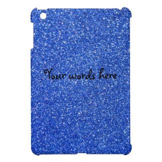 Blue glitter ipad mini case