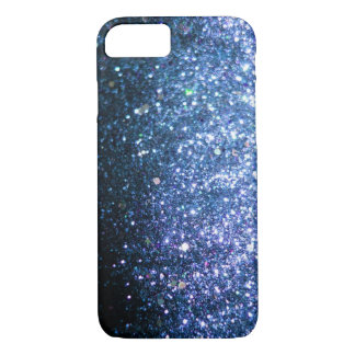 Blue Glitter iPhone 7 case sparkle
