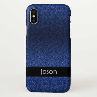 Blue Glitter iPhone X Case
