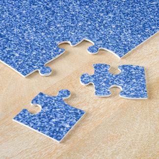 Blue Glitter Jigsaw Puzzle