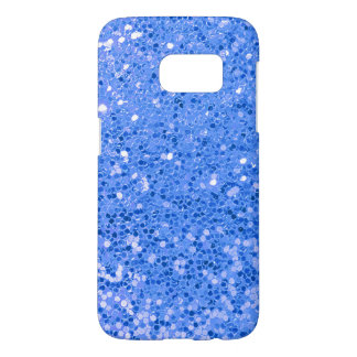 blue glitter macro samsung galaxy s7 case