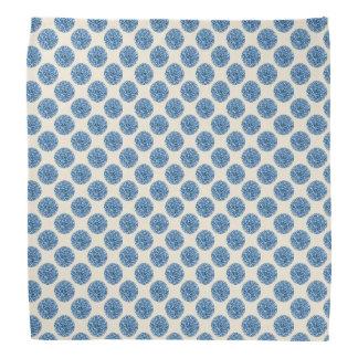 Blue Glitter Polka Dots Pattern Bandana