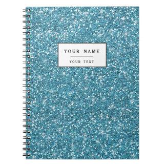 Blue Glitter Printed Note Books