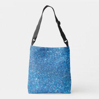 Blue Glitter Shiny Style Crossbody Bag