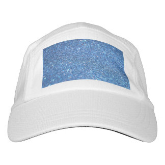 Blue Glitter Shiny Style Headsweats Hat