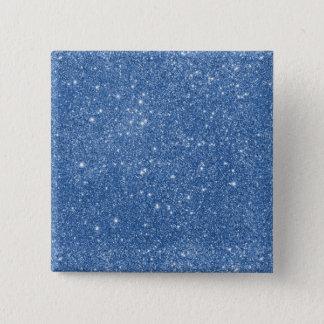 Blue Glitter Sparkles 2 Inch Square Button