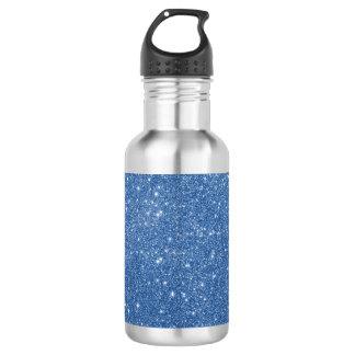 Blue Glitter Sparkles 532 Ml Water Bottle