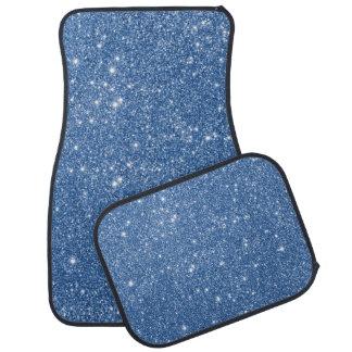 Blue Glitter Sparkles Car Mat