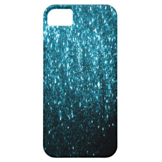 Blue glitter sparkles iphone 5 cover